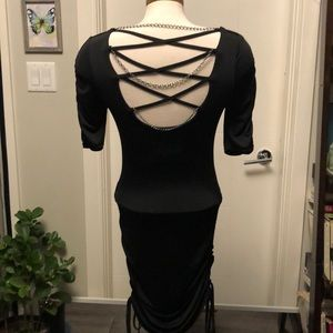 Early 2000,s Cinched open back BEBE dress